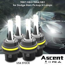 9004 9007 LED Headlight Kits Power Bulbs For Dodge Ram Pickup/4 Lamps 2002-1999