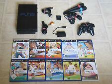 Playstation 2 komplett mit Controller + 1 Singstar Spiel + Micros + MC PS2 PS 2