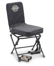 Portable Swivel Hunting Chair Folding Deer Stool Turkey Padded Blind Seat Back