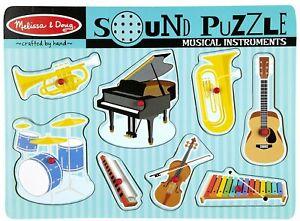Melissa & Doug Sound Puzzle Musical Instruments