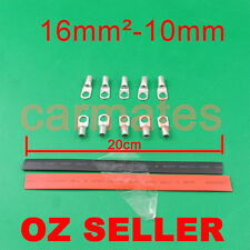 10 Lug Terminals 16-10 plus heat shrink for electrical wire Car Camp Appliance