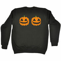 HALLOWEEN PUMPKIN BOOBS SWEATSHIRT jumper evil breast dead funny birthday gift