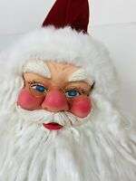 Large Christmas Santa Head Face White Beard  Whimsical CUTE Vintage 11""