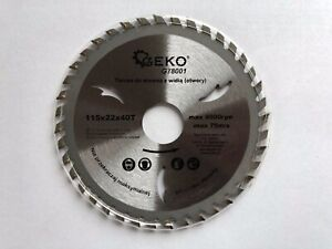 Saw Blade Angle Grinder For Wood Disc Circular 115x22x40T Max 9000rpm 75m/s