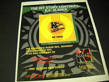 KC AND THE SUNSHINE BAND 1993 Promo Poster Ad THE HIT STORY CONTINUES KC is back