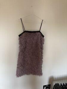Zara fluffy cocktail dress size s (small)