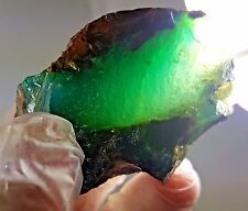 78Grms GEM SILICA CHRYSOCOLLA CRYSTAL CHALCEDONY EMERALD JADE COLOR MINE S847