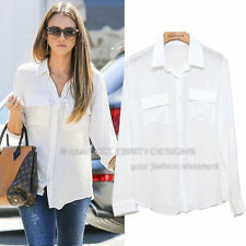Chiffon Long Sleeve Hand-wash Only Regular Tops & Blouses for Women
