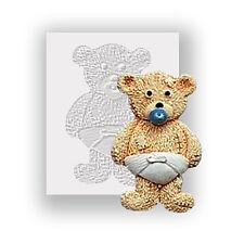 Moule silicone-Teddy Bear & couche-plat soutenu mini sculpture-usage alimentaire