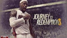 "19 LeBron James Miami Heat 2012 NBA Champion MVP 43""x24"" Poster"