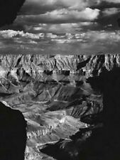 BLACK AND WHITE GRAND CANYON ARIZONA PAESAGGIO ARTE FOTO STAMPA FOTO di scena