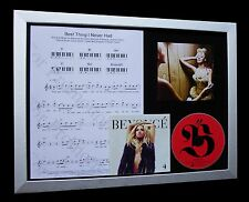 BEYONCE Best Thing I Never Had LTD QUALITY CD FRAMED DISPLAY+EXPRESS GLOBAL SHIP