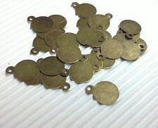 100pc antique bronze 10x8mm iron pendant-5145