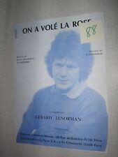 PARTITION MUSICALE FRANCE GERARD LENORMAN ON A VOLE LA ROSE