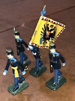 Kead Soldiers French Soldiers Flag  March 4 In Set Excellent Condition