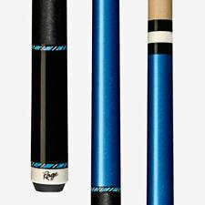 New Rage RGC10 Metallic Blue Billiards Pool Cue Stick w/ Maple Shaft Linen Wrap