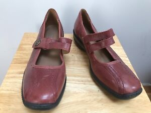 HOTTER KAREN Ladies Brown Leather Mary Jane Style Shoes @ Size UK 4 US 6 EU 37