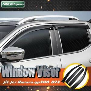 4 Pcs Window Visors for Nissan Navara NP300 D23 weathershields 2015-2018 Ute