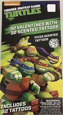 Valentines Turtles Teenage Mutant Ninja 32 Valentines 32 Pizza Scented Tattoos