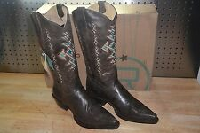 Roper 11 B Women's Native Inlay Cowgirl Boot Snip Toe 09-021-7622-0123 BR