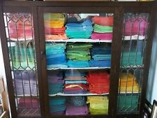 Vintage Full Feed Sack Lot of 10 Solid Colored Sacks  READ AD