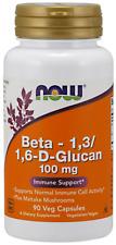 Beta 1,3/1,6 Glucan 100mg With Maitake Mushrooms Now Foods 90 Caps
