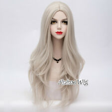 75cm Lolita Basic Long Wavy Heat Resistant Anime Halloween Party Cosplay Wig+Cap