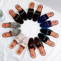Womens Mules Slipper Shoes Buckle Casual Loafer Slip Slides Backless Slides Size
