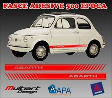 FASCE ADESIVE 500 ABARTH D'EPOCA STICKER  500 L 500 R 500 F  CINQUINO