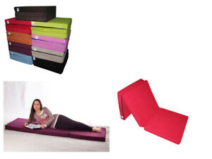 Colchón plegable de espuma cama invitados futon sillón adultos 195 x 65 x 8 Mi