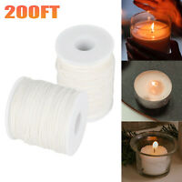 1-3X Cotton Candle Wicks Core Candle Spool Making Supplies Braid Waxed 61m/200ft