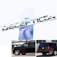 1x Origianl Chrome DECEPTICON EMBLEM Badge Letter 3D for F150 Silverado Tundra L
