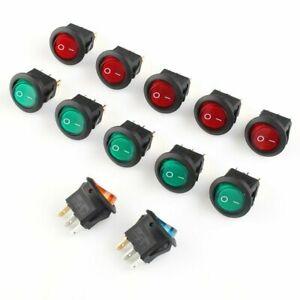 12V Switch Culbuteur 20x Accessoires Bateau Voiture Tableau Électrique Illuminé
