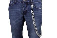7c7d79eae8 Uomo Portafogli Catena Metallo Argento lungo Chunky Gemelli Biker Rocker  Jeans