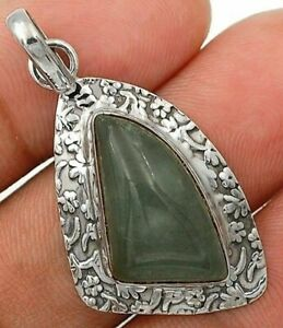 Natural Aquamarine 925 Sterling Silver Pendant Jewelry IT5-5