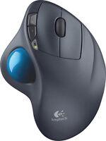Logitech - M570 Wireless Trackball Mouse - Gray/Blue