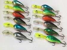 12 Rare Rapala Fat Rap DRFR-5 Finland Crankbaits Fishing Lures Tackle Find