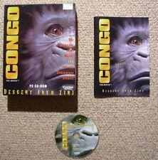 Congo Descent Into Zinj in Box - PC Adventure Game