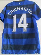 Manchester United 2011-2012 chicharito away football shirt large garçons kids 39728