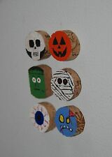 Monster Fridge Magnets Halloween Wine Cork