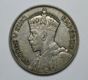 1935 New Zealand 50% Silver 1/2 Crown Circ - 185064A