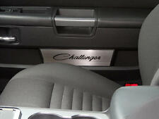 "151032 2008-14 Dodge Door Badge Plate ""Challenger Classic Script"" Laser Etched"