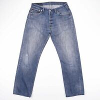 Vintage LEVI'S 501 Regular Straight Fit Men's Blue Jeans W34 L31