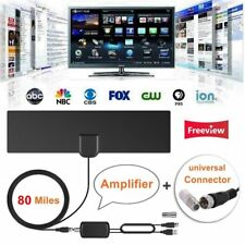 80 Mile Range Indoor Digital HD TV Antenna Signal Amplifier Booster TV Receivers