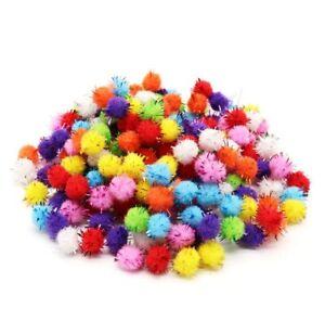 50/100 Glitter 15mm Pom Poms Crafts, Sparkly, Card Making, Assorted Packs - 1364