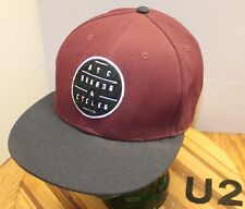NYC BOARDS & CYCLES SKATEBOARDING HAT BLACK/BURGUNDY SNAPBACK VGC U2