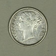 British India Silver 1/4 Rupee 1840 c  Divided Legend  Victoria   A1220
