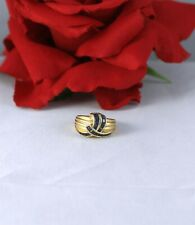 14k Gold Sapphire Knot Ring 3.98g Size 5  CAT RESCUE