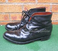 BRITISH ARMY SURPLUS BLACK GEORGE BOOTS,G1,LEATHER UPPER & SOLE,UNIFORM,DRESS