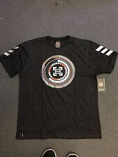 NWT ENYCE MEN'S DESIGNER T SHIRT BLACK SILVER CHARCOAL SIZE L LARGE